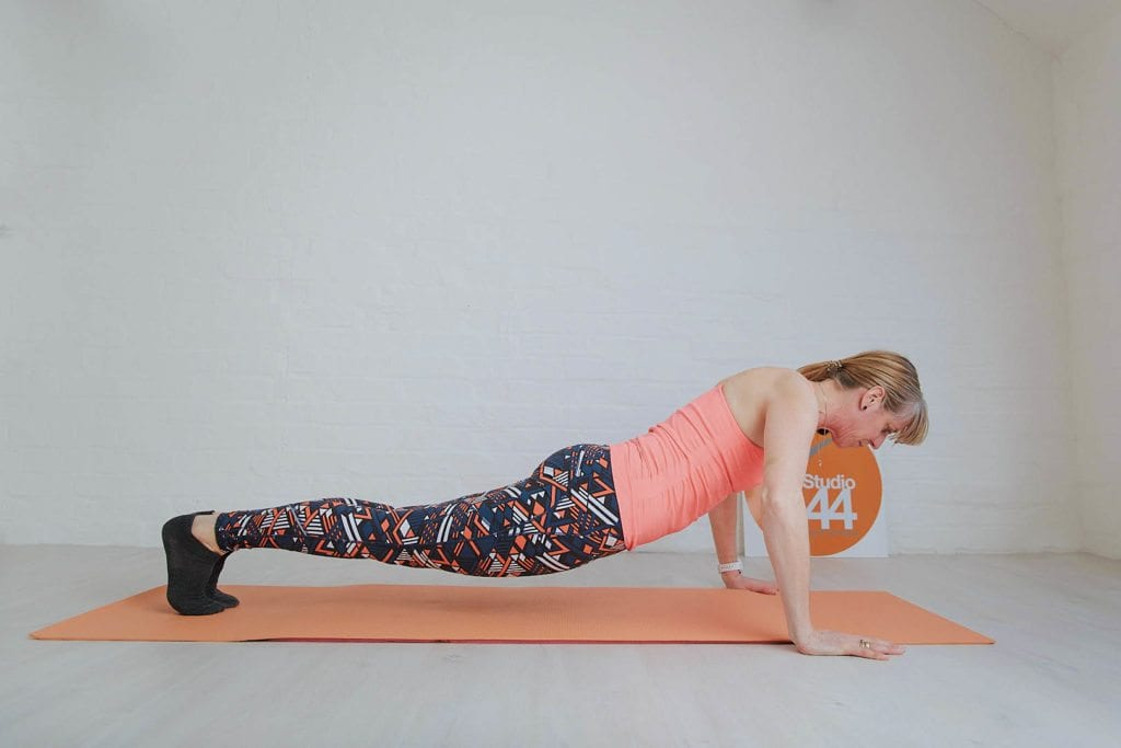 10 minute pilates online press ups