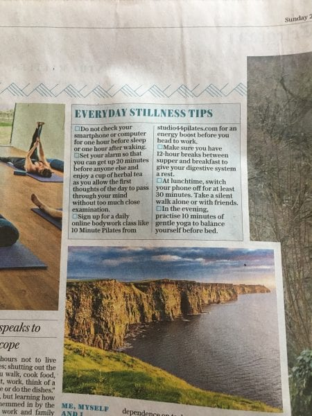 Studio 44 Pilates gets a mention in The Sunday Telegraph - Studio 44 Pilates