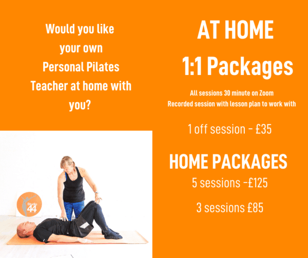 The difference between an in-person Pilates 1-2-1 or class and a Zoom Online 1-2-1 or class - Studio 44 Pilates